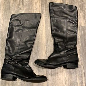 Coach nancye leather riding knee high boots